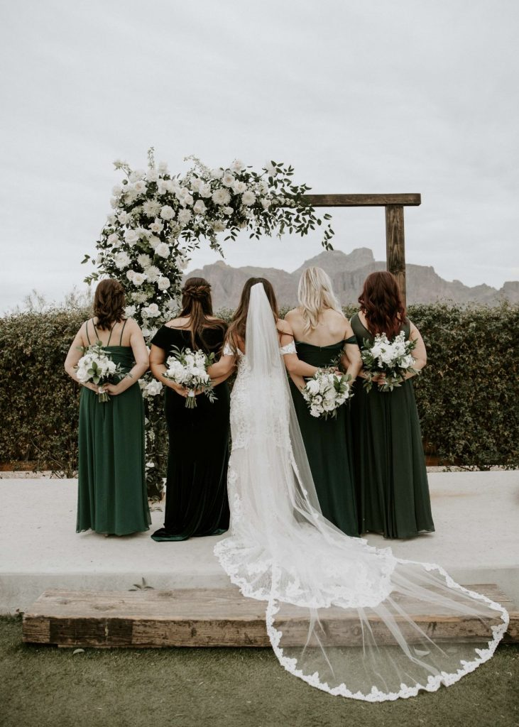 bridesmaids green dress