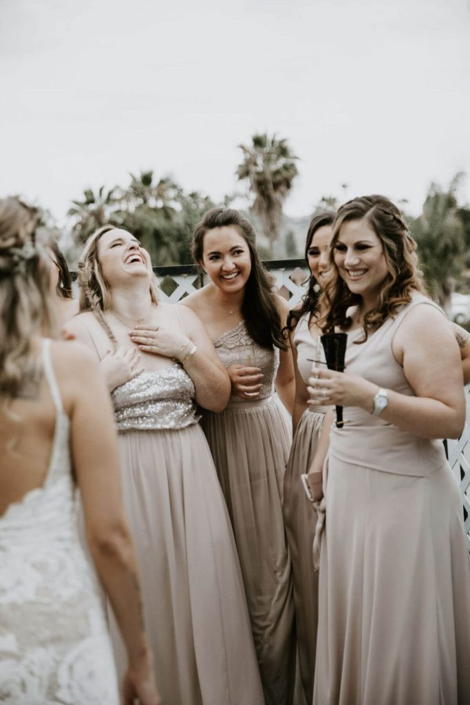 Lot 8 wedding bridesmaids