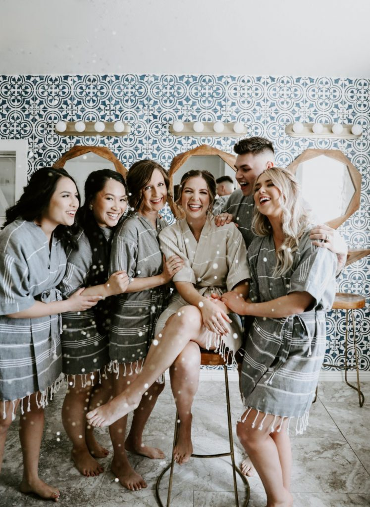 bridal party at tercero by aldea wedding venue