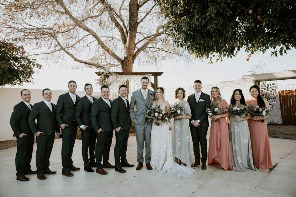tercero by aldea bridal party