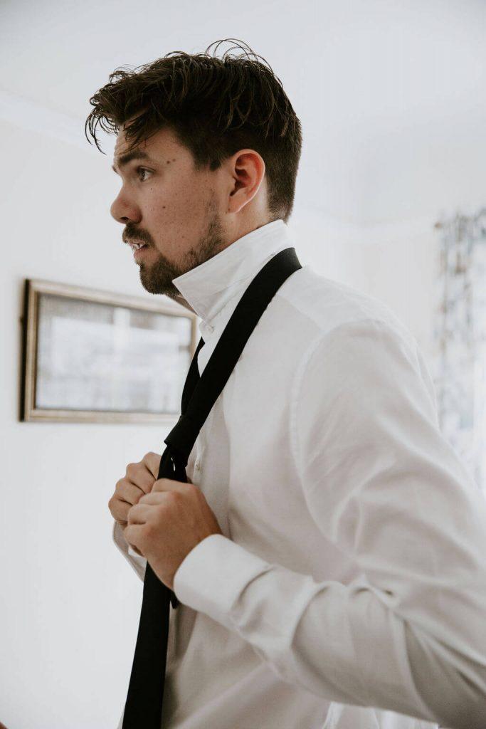 elopement wedding photograph of groom
