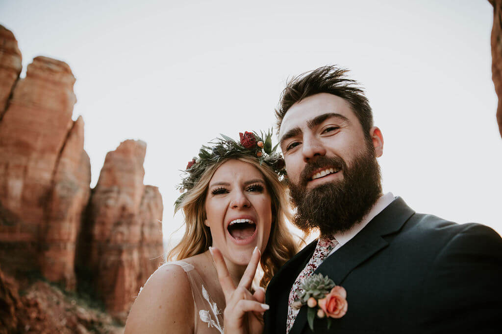 wedding elopement in Sedona, Arizona