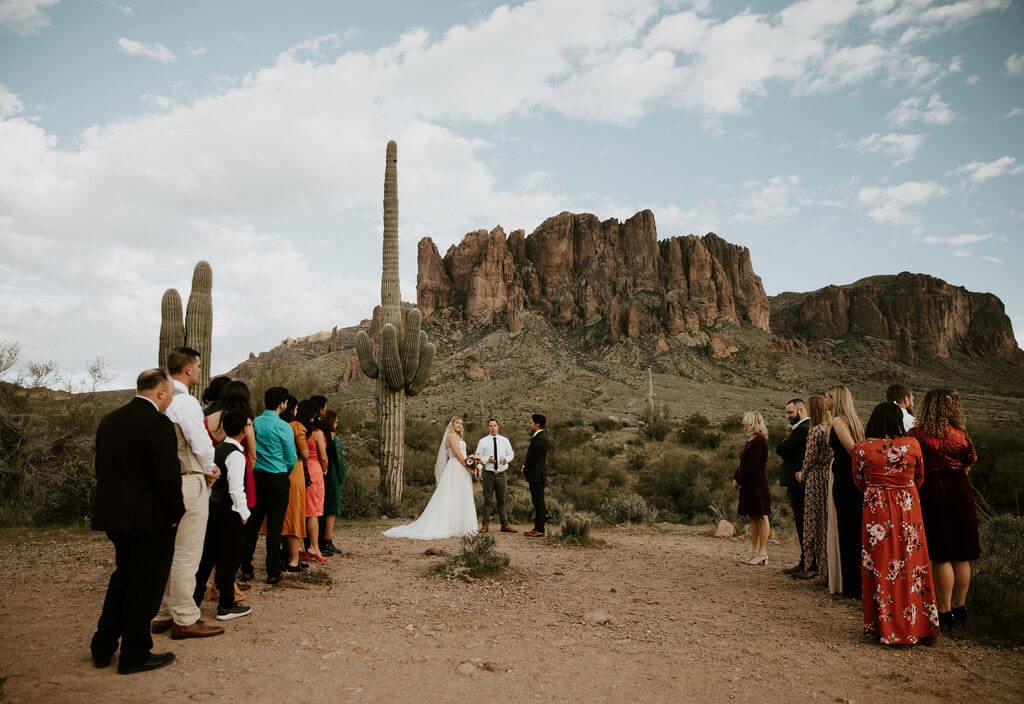 wedding elopement in Arizona desert