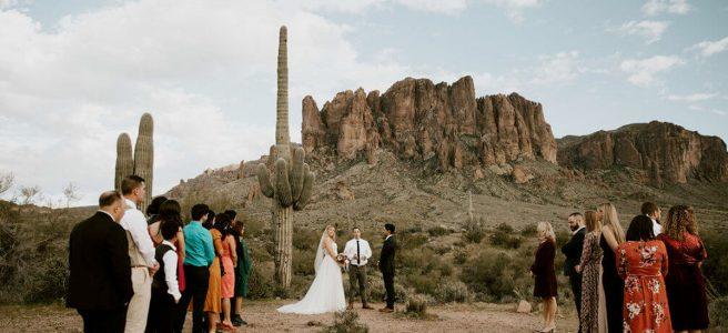 elopement in Arizona desert