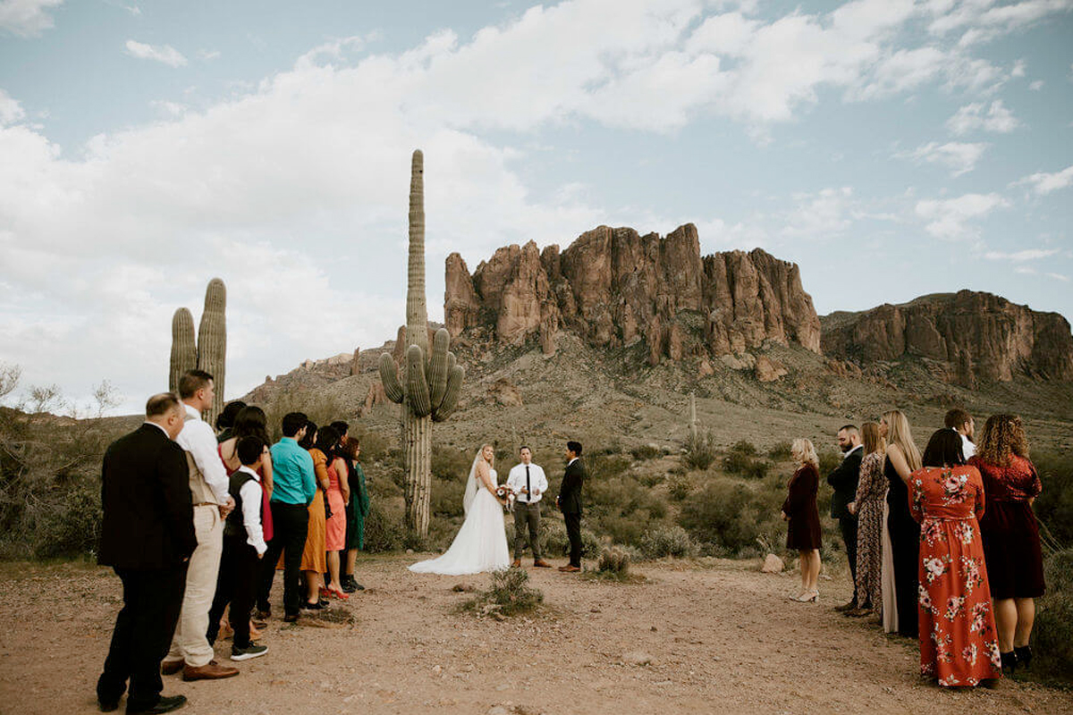 elopement in Arizona desert