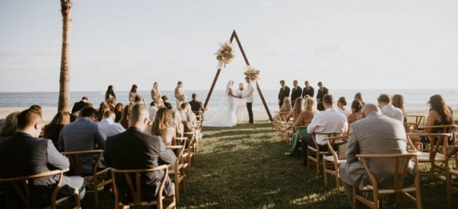 luxury Cabo wedding ceremony set up