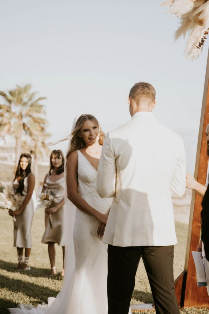 luxury Cabo wedding ceremony set up