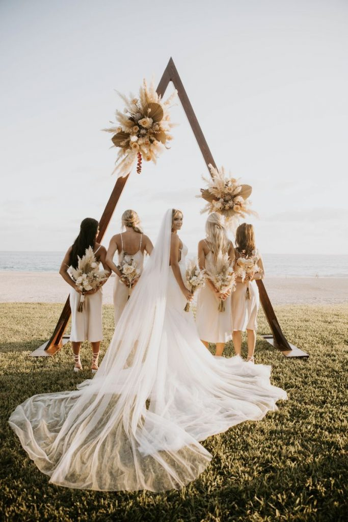 luxury Cabo wedding bridal party photos