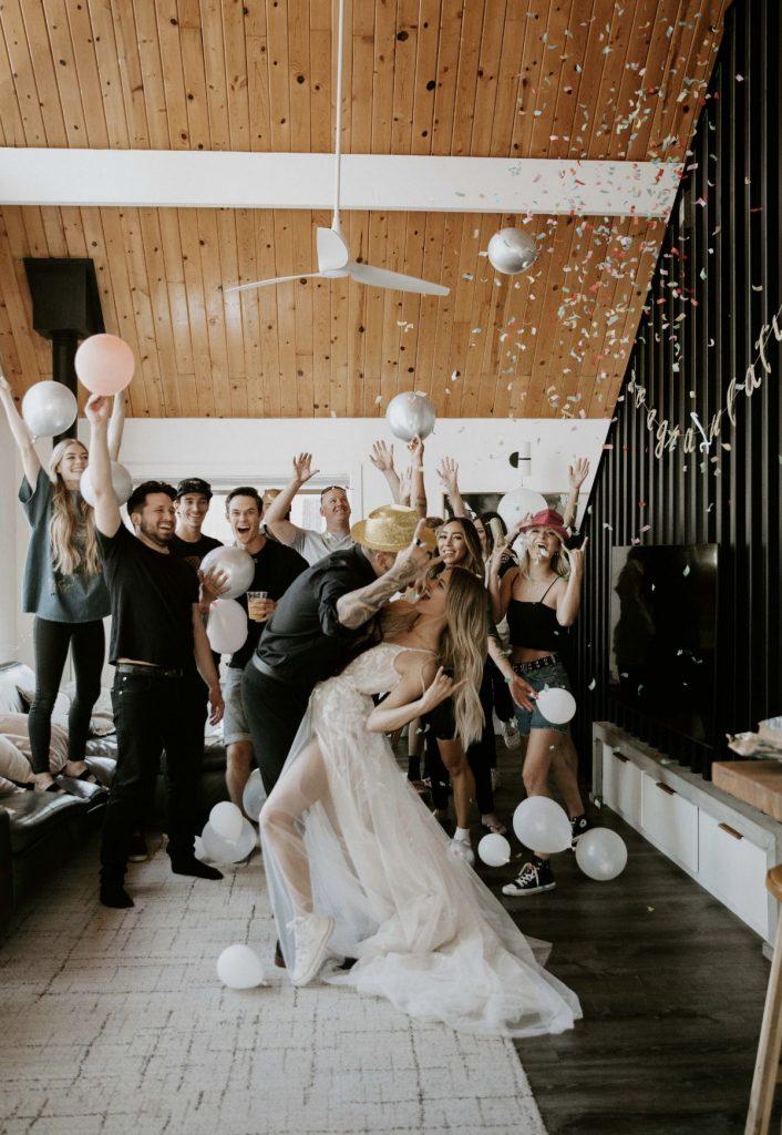 elopement bridal party photo
