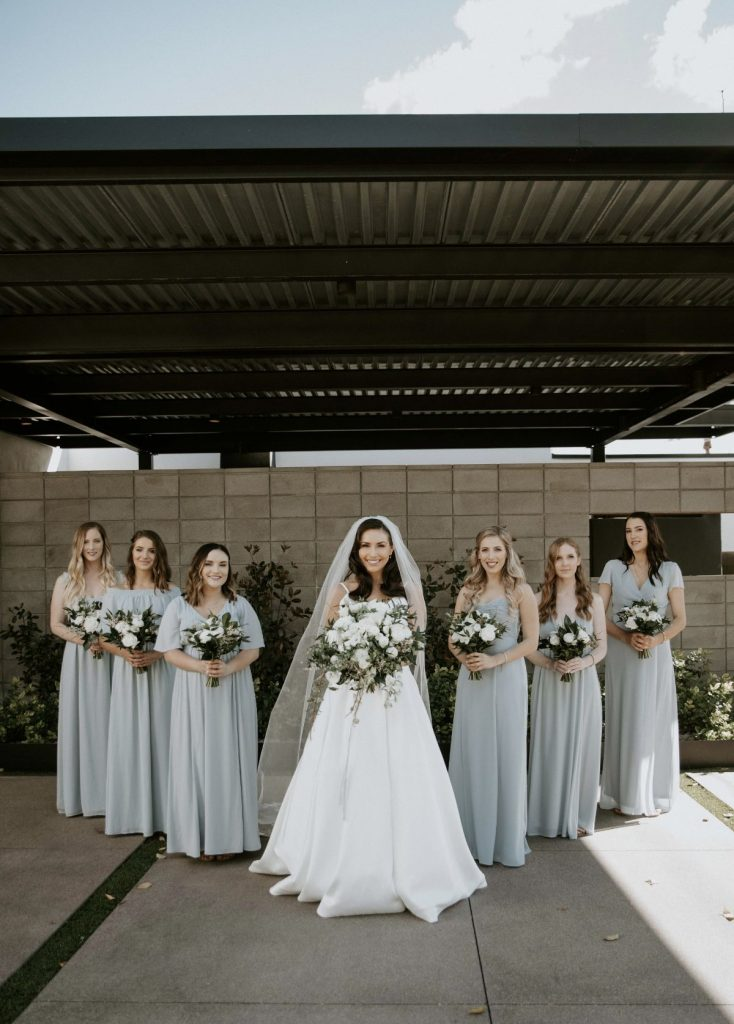 bridesmaids modern photo