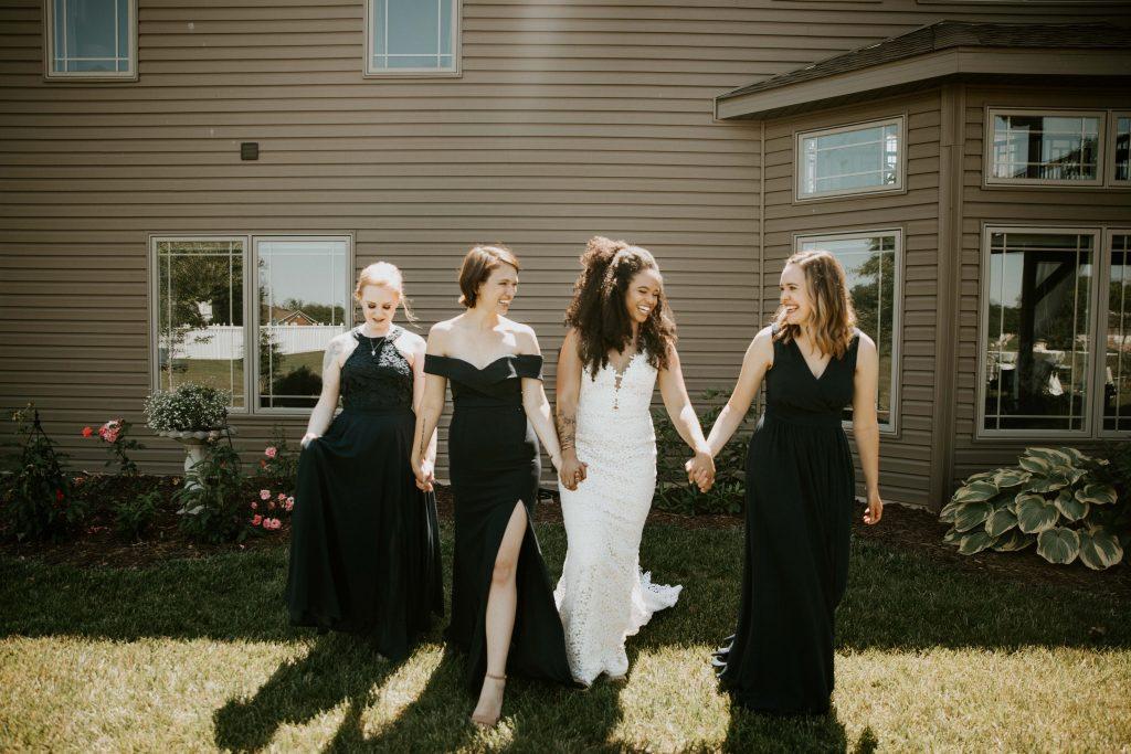 elopement bridesmaids